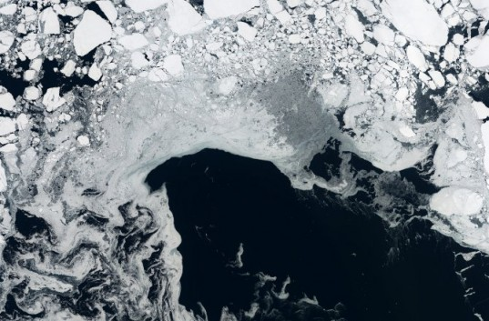 Arctic Sea Ice Recorded by European Space Agency's Cryostat Satellite Sept 15