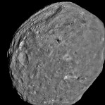 NASA Dawn Spacecraft takes picture of the giant asteroid Vesta about 3,200 miles above the surface before travel to asteroid Ceres on July 24, 2011.