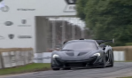 The outrageous McLaren P1 LM hypercar, driven by Kenny Brack, broke the Hillclimb record for the fastest time by a road legal car during the Festival of Speed's Supercar Shootout!