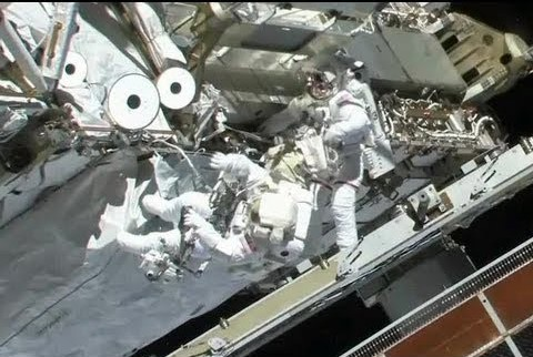 Two Astronauts from NASA sent for an emergency repair.