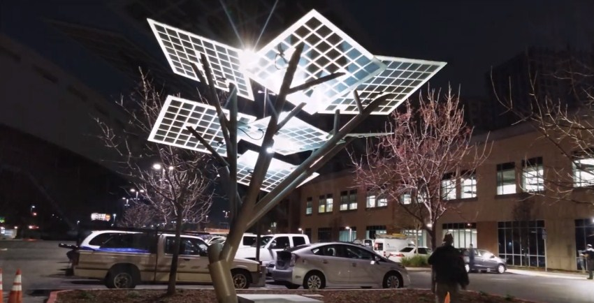 The eTree was identified to provide many uses aside from the electricity acquired through the solar panels.