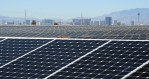 Solar panels in the 102-acre, 15-megawatt Solar Array II Generating Station are shown at Nellis Air Force Base on Feb. 16, 2016 in Las Vegas, Nevada.