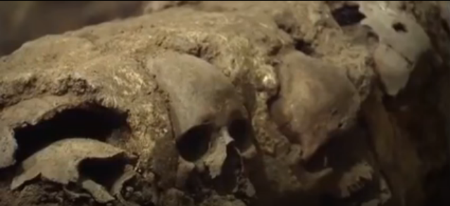 A rack of human skulls believed to be dated some 500 years ago has been unearthed in Mexico City. Archaeologists found out that these skulls belong to human sacrifice.