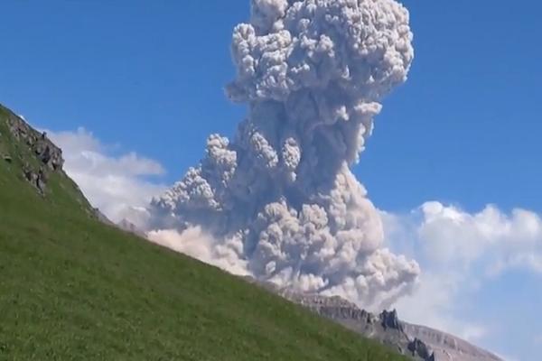 Shiveluch Volcano. Kamchatka