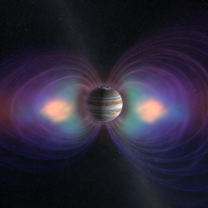 Jupiter with Magnetic Field
