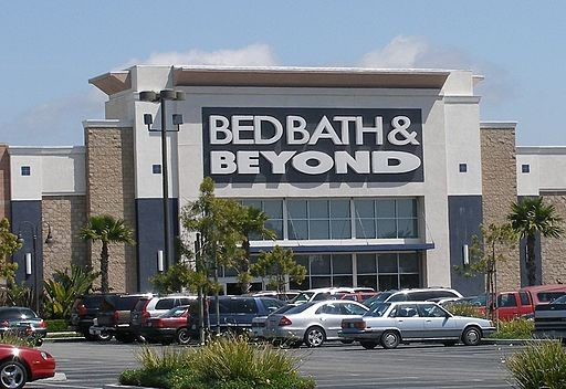 A Bed Bath and Beyond store in a shopping center next to State Route 1 (Oxnard Boulevard) in Oxnard.
