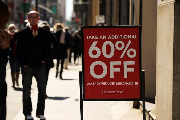 Falling consumer prices
