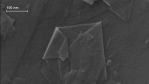 A powder containing a little graphene flakes. The image was obtained using a scanning electron microscope.