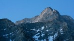 Alpine peaks rise south of Mount Whitney, the tallest peak in the continental US at 14,494 feet, in the Sierra Nevada Mountains.