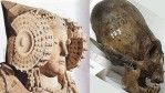 Four Ceramic Ancient Heads Discovered in a Midden